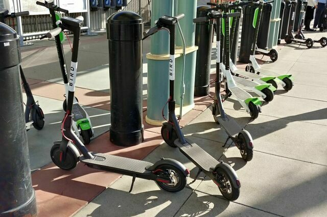 Image result for charging a lime scooter